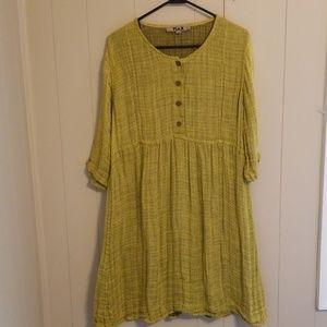 FLAX Linen Polka Dot Dress
